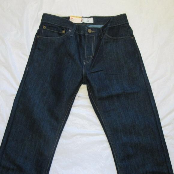 "Lot 2 NEW LEVI/'S Boys Jeans 511 Slim Size 14 REG 27x 27"" Waist Length NWT 91R511"